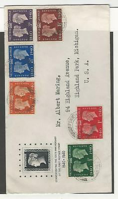 Great Britain, Postage Stamp, #252-257 First Day Cover To Highland Park, MI