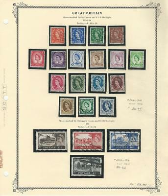 Great Britain, Postage Stamp, #292-312 Used on Scott Specialty Page (p)