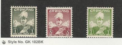 Greenland, Postage Stamp, #1-3 Mint NH, 1938