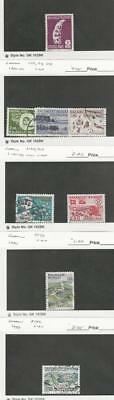 Greenland, Postage Stamp, #102, 111, 113, 114, 162, 164, 179, 192 Used, 1977-89
