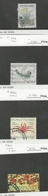 Greenland, Postage Stamp, #196, 233, 256, 261 Used, 1989-93