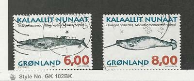 Greenland, Postage Stamp, #321-322 Used, 1997 Whales