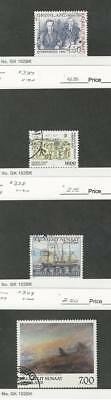 Greenland, Postage Stamp, #335, 337, 338, 349 Used, 1998-99