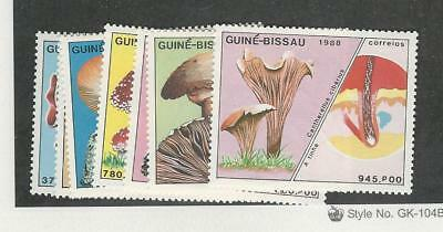 Guinea Bissau, Postage Stamp, #765-771 Mint NH, 1988 Mushrooms