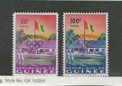 Guinea, Postage Stamp, #201-202 Mint Hinged, 1960 Flag Olympics