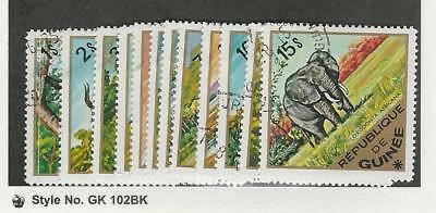 Guinea, Postage Stamp, #685-696 Used, 1975 Animals