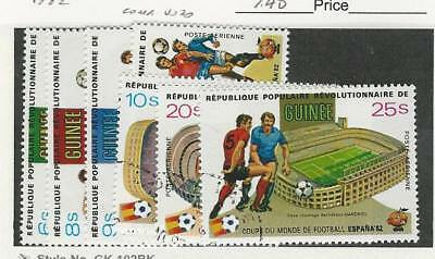 Guinea, Postage Stamp, #831-834, C154-C156 Used, 1982 Football, Soccer