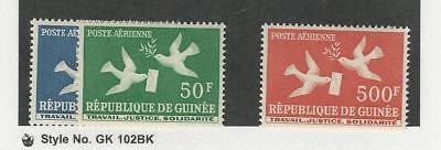 Guinea, Postage Stamp, #C17-C18, C21 Mint NH, 1959 Airmail