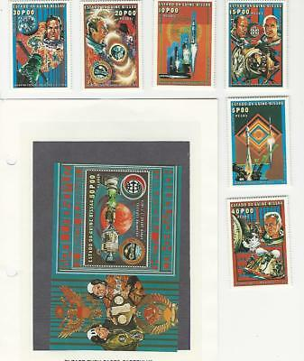 Guinea, Postage Stamp, #Unlisted Set & Sheet Mint NH, Space