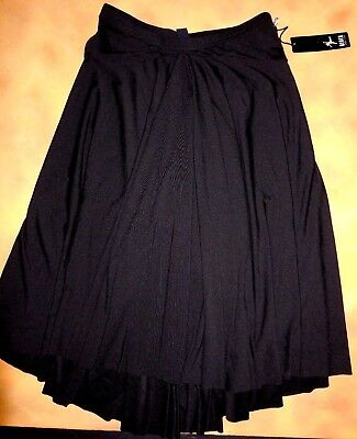 NWT Bloch Dance Black Ballroom Practice Skirt Polyester Spandex Sm Adult R1811