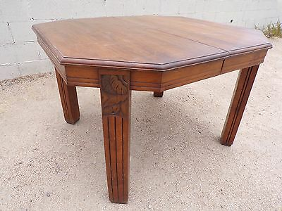 French Art Deco Antique Table * Art Deco Dining Table * Circa 1950 *