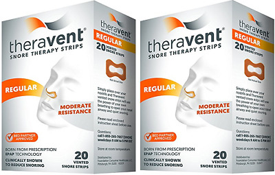 Theravent Snore Therapy Strips (Regular Strength)( 2 Pack)