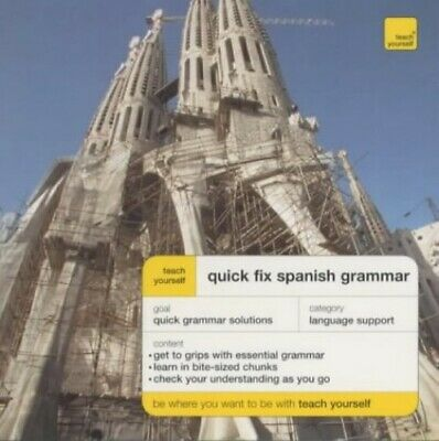 Quick Fix Spanish Grammar (Teach Yourself Langua... by Chambers, Keith Paperback