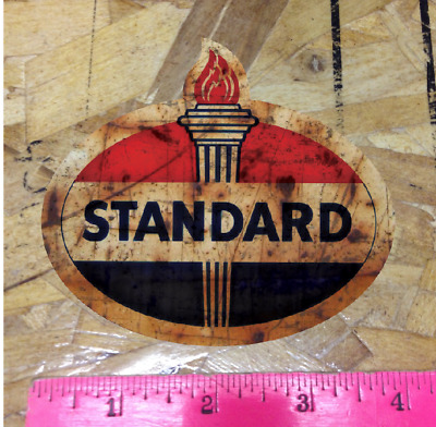 "STANDARD Oil Co 4"" Rusty Vintage look distressed Vinyl Decal Sticker"