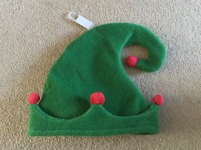 Baby boys or girls fab green elf Christmas hat from Next NWT size 18 - 24 months