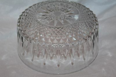 """Vintage Arcoroc France Clear Glass 9"""" Round Bowl"""