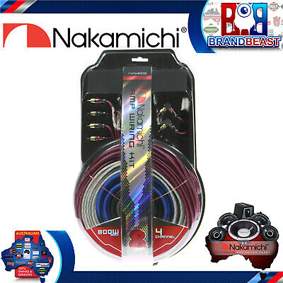 Nakamichi NAK408 8 Awg Gauge 4-channel 800w Amplifier Wiring Install Kit Amp