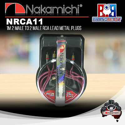 Nakamichi Nrca11 1m 2-channel Rca Interconnect Lead Cable 1 Meter Audio Signal