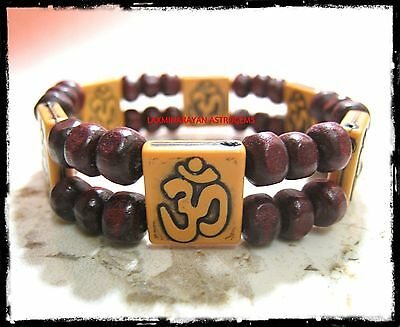 Om Bracelet Wristband Stretchable Adjustable Good Luck Hinduism For Yoga