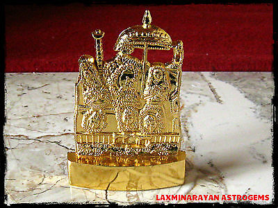 Maa Vaishno Devi Idol Gold Plated Asthadhatu 4.5 Inchs Height