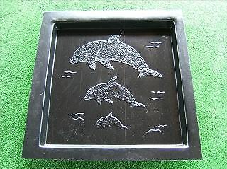 Dolphin Paver Mould For Concrete 400mm x 400mm Stepping Stone