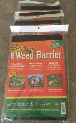 4 Packs Of Weed Barrier Blocker All Purpose Black Garden Fabric Garden 4ft  X 8ft