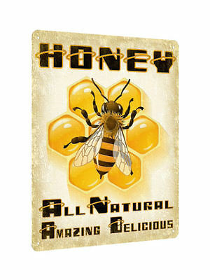 HONEY bee METAL SIGN for health store vintage style retro kitchen wall decor 603