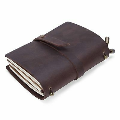 Vintage Notebook Leather Cover Handmade Diaries Book Journal Travel Notepad hot