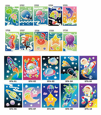 Sea Theme Sand Art Kit (5 packs) and Space Theme Sand Art Kit (5 packs)