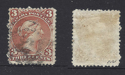 Small Faults CANADA Used Large Queen Stamp #25 (G777)