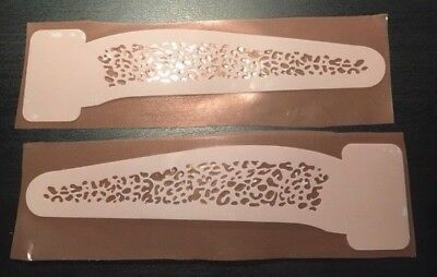 """5"""" Fishing Lure Stencil - x1 Set of Pairs (Leppard Print) REUSABLE"""