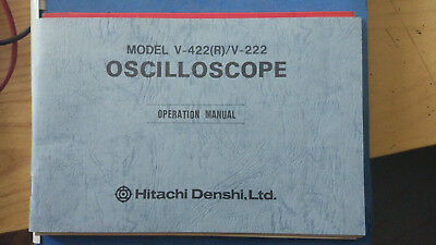 Hitachi V-422 V-222 Operation Manual