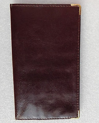 Large vintage burgundy wallet ID card holder Zipped coin purse for men or ladies