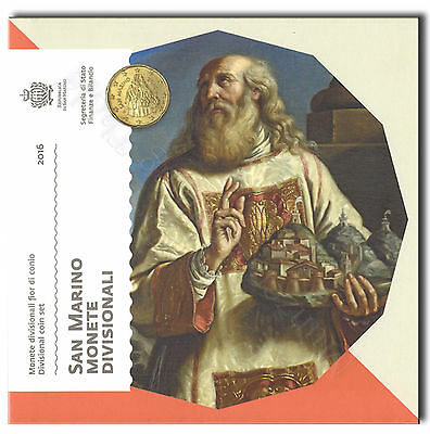 San Marino 2016 Currency coin set KMS Brilliant uncirculated 1 Cent- without