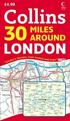 30 Miles Around London (Map) 000726089X The Fast Free Shipping