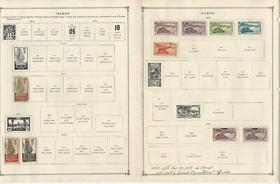 Gabon Collection 1904-1993 on  35 Scott International Pages