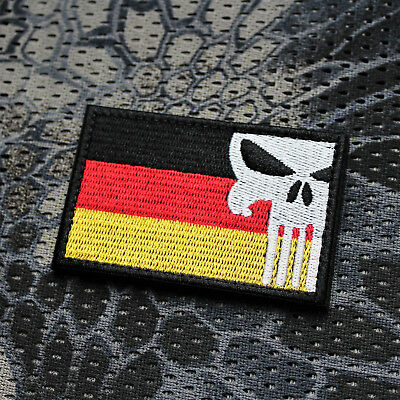 Ursuz  Patch Aufnäher Airsoft Paintball Deutschland Punisher Patriot Germany EDC
