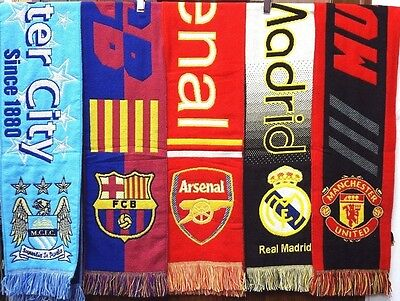 Soccer Team Scarf Arsenal/Man City/Manchester United/Barcelona/Real Madrid