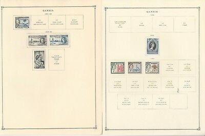 Gambia Collection 1886 to 1970 on Scott International & Minkus Pages