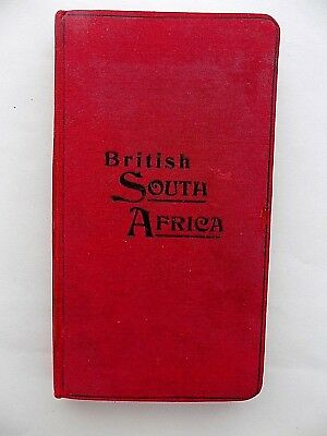 c1905 Philips South and Central Africa Rhodesia Map Old Antique Large 98x72cms