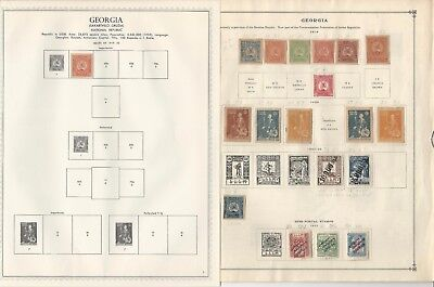 Georgia Collection 1919-1923 on Minkus Specialty & Scott International Pages