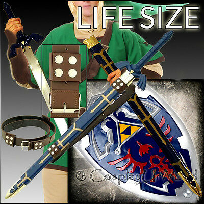 The Legend Zelda Link Hylian Twilight Princess Master Sword, Shield, Brown Belt