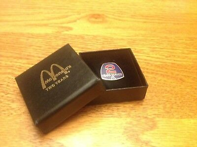 McDonald's Two Year Service Pin In Presentation Box