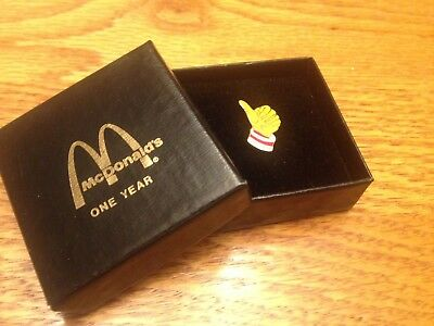 McDonald's One Year Service Pin In Presentation Box