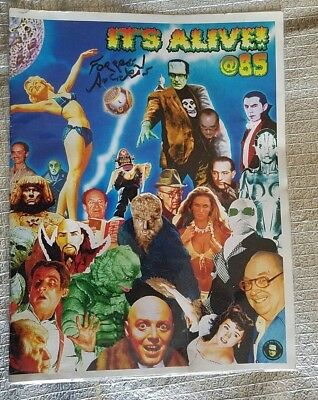 """it's Alive @ 85"" Forrest Ackerman's ""signed"" 85Th Birthday Bash Program 219/250"