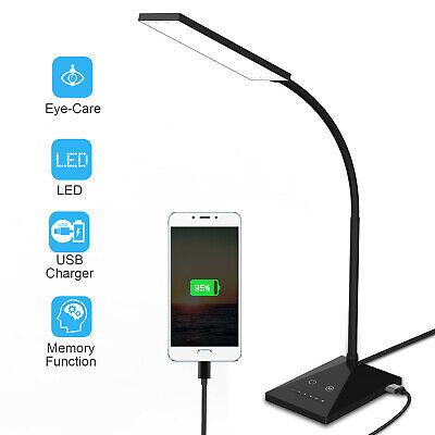 12W Touch Sensor Flexible Dimmable 7 LED Desk Table Lamp Bedside Reading light
