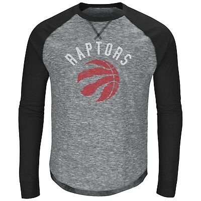 Men's Toronto Raptors Full Sleeve Crew Neck Nation Exposure LS T Shirt X-Large