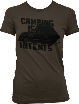 1a6d18a3 CAMPING IS INTENTS - Outdoors Funny Sayings Slogans Mens T-shirt ...