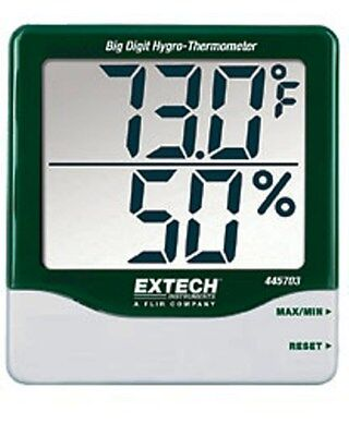 Extech Big Digit Hygro Thermometer 445703 Large Lcd Screen New