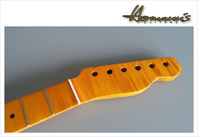 Flamed Maple Telecaster Replacement Neck, Finish Vintage High Gloss, 22 Frets
